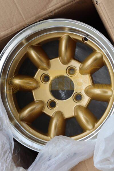 Classic Mini 12x6 Banana Rims / Minilite Style Gold